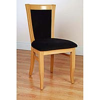European-style Natural Finish Dining Chairs (Set of 2)