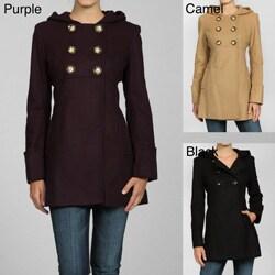 MICHAEL Michael Kors Women's Wool Hooded Babydoll Jacket - Thumbnail 0