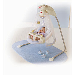fisher price starlight papasan cradle swing free shipping today 12920127. Black Bedroom Furniture Sets. Home Design Ideas