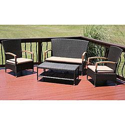 Shop Bonair 4-piece All-weather Resin Wicker Patio ... on Safavieh Outdoor Living Granton 5 Pc Living Set id=48314