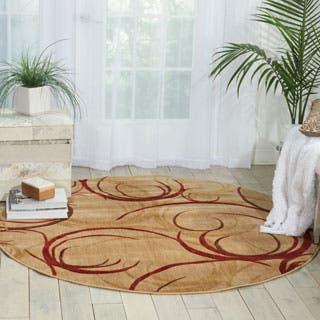 Nourison Somerset Beige Area Rug (5'6 Round)|https://ak1.ostkcdn.com/images/products/P12930557a.jpg?impolicy=medium