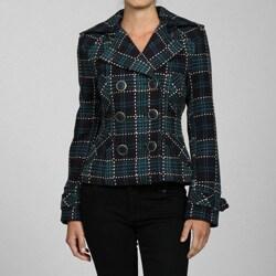 Buffalo Women's Blue Plaid Jacket - Thumbnail 0
