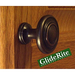 GlideRite Oil Rubbed Bronze Classic Ring Cabinet Knobs (Pack of 100)