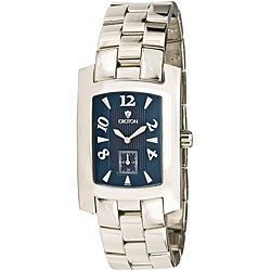 Croton Men's CN307186SSBL Stainless Steel Silvertone Swiss Watch