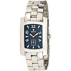 Croton Men's CN307186SSBL Stainless Steel Silvertone Swiss Watch