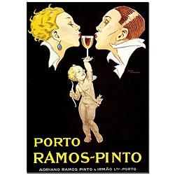 Rene Vincent 'Porto Ramos Pinto' Canvas Poster