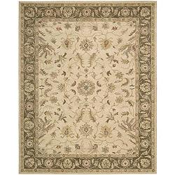 Nourison Hand Tufted Beaufort Cream Wool Rug (7'6 x 9'6)