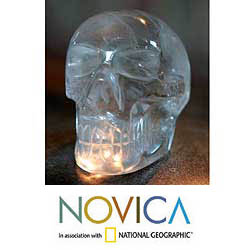 Quartz 'Crystal Skull' Sculpture (Brazil)