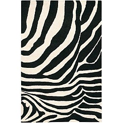 Artist's Loom Hand-tufted Contemporary Animal Print Wool Rug (7'9x10'6) - Thumbnail 0