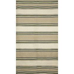 Thumbnail 1, Flat-woven Ivory Rug (8' x 2').