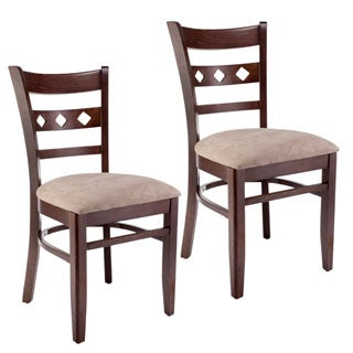 Diamond Back Walnut Dining Chairs (Set of 2)