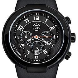 Philip Stein Men's 32-AB-RBB 'Active' Black Silicone Chronograph Watch