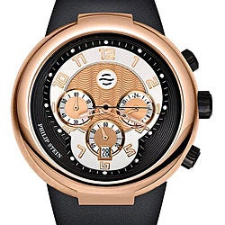 Philip Stein 32-ARG-RBB Men's 'Active' Black Silicone Chronograph Watch
