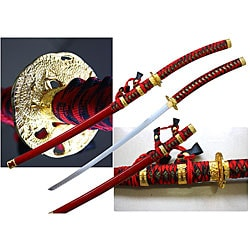Red Japanese 43.75-inch Jintachi Ceremonial Sword