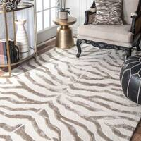nuLOOM New Zealand Faux/Silk Zebra Rug - 5' x 8'