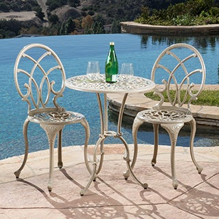 Anacapa Sand Bistro Set by Christopher Knight Home