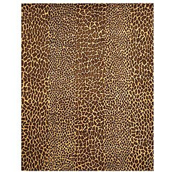 Hand-tufted Wool Beige Transitional Leopard Rug (8'9 x 11'9)