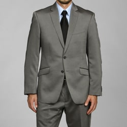 Kenneth Cole Reaction Men's Slim Fit Grey 2-button Suit