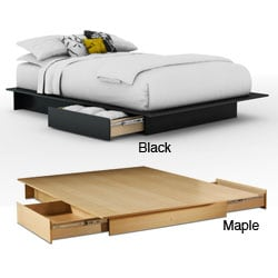 Contemporary Storage Platform Bed