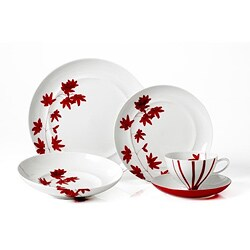 Mikasa Pure Red 5-piece Dinnerware Set