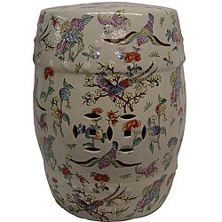 Bloomster Birds Porcelain Garden Stool - Thumbnail 0