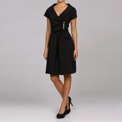 Julian Taylor Women's Black Taffeta Dress - Thumbnail 0