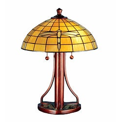Dragonfly Copper Table Lamp