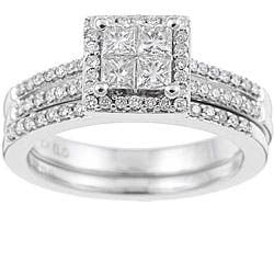 Eloquence 10k White Gold 3/4ct TDW Diamond Bridal Ring Set|https://ak1.ostkcdn.com/images/products/P12973949.jpg?impolicy=medium