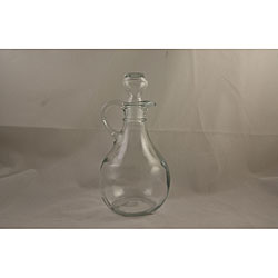 Round 10-oz Glass Cruets with Stoppers (Set of 2)