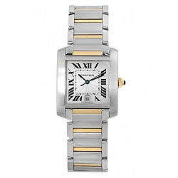Cartier Men's Tank Francaise 18k Gold and Stainless Steel Watch