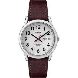 Timex Men's T20041 Easy Reader Brown Leather Strap Watch|https://ak1.ostkcdn.com/images/products/P12987455m.jpg?impolicy=medium