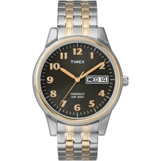 Timex Men's T26481 Elevated Classics Stainless Steel Expansion Band Watch
