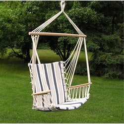 Deluxe Harmony Blue Hanging Swing Chair