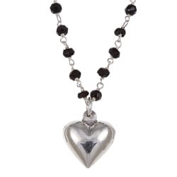 Charming Life Silver Spin Heart Necklace