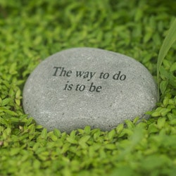 Handmade Stone 'The Way to do is to be' Messenger Rock (Indonesia)