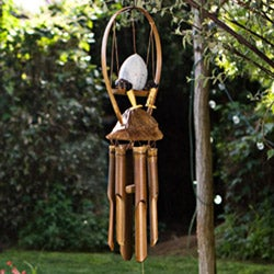Bamboo 'Egg on Legs' Wind Chime (Indonesia) - Thumbnail 0