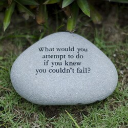 Handmade Stone 'What Would You Attempt' Messenger Rock (Indonesia)