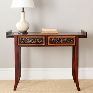 Safavieh Kasey Brown Wood Console Table