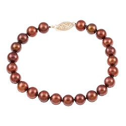 Chocolate Freshwater Pearl 8-inch Bracelet (7.5-8 mm)