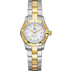 Tag Heuer Women's WAF1425.BB0814 'Aquaracer' Diamond Two-Tone Stainless Steel Watch
