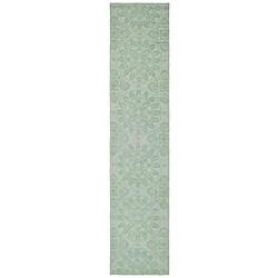 Martha Stewart Terrazza Turquoise Cotton Rug (2'3 x 10')