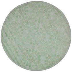 Martha Stewart Terrazza Turquoise Cotton Rug (4' Round)
