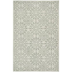 Martha Stewart Terrazza Shale Grey Cotton Rug (3'9 x 5'9)