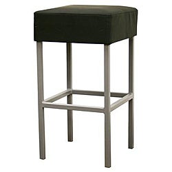 "Modern Faux Leather 24-32"" Adjustable Bar Stool by Baxton Studio"