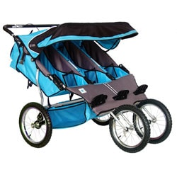 BeBeLove Aqua Triple Jogging Stroller - Free Shipping Today ...