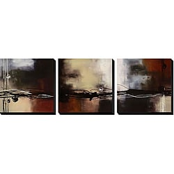 Laurie Maitland 'Prelude in Rust' 3-piece Gallery Wrapped Giclee