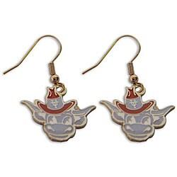Texas Longhorns Mascot Dangle Logo Earrings - Thumbnail 0