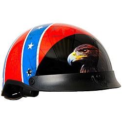 DOT Rebel Flag Shorty Motorcycle Helmet - Thumbnail 0