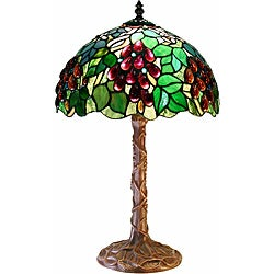 Tiffany-style White Zinc Grape Lamp