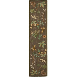 Martha Stewart Grove Twig Olive Green Wool Runner Rug (2' 3 x 10')